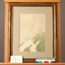 Image of Painting - Mountain Top (Snow on Hillside)